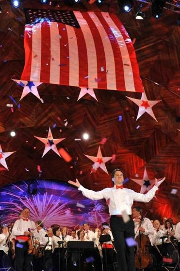 Keith Lockhart will lead the Boston Pops in song during the Fireworks Spectacular on the Esplanade.