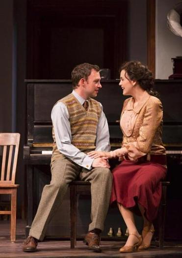 "Nate Corddry plays lyric writer Fred Stevens and Rachel Napoleon is Edna Baker, a dental assistant Fred meets en route to New York in ""June Moon"" at Williamstown Theatre Festival."