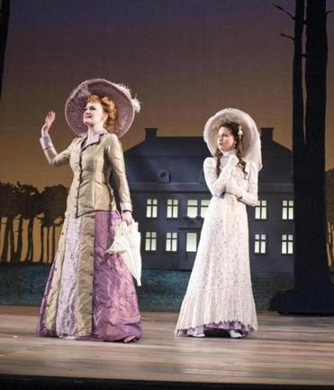 "Kate Baldwin (left) and Phillipa Soo in the Berkshire Theatre Group production of  Stephen Sondheim's ""A Little Night Music,'' directed by Ethan Heard."
