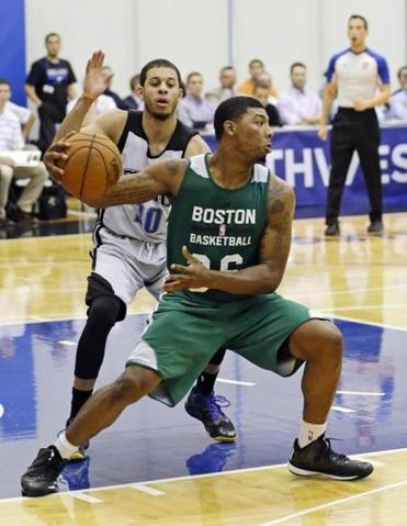 Marcus Smart produced his best basketball of the summer league in the second half, scoring 13 points after the break.
