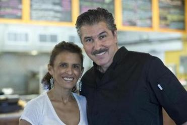 Boxborough, MA 7/11/2014 Chef/owner Oscar Garcia and his wife Dalia Garcia at Oscar�s Burritos Mexcian Grill on Friday July 11, 2014. (Matthew J. Lee/Globe staff)