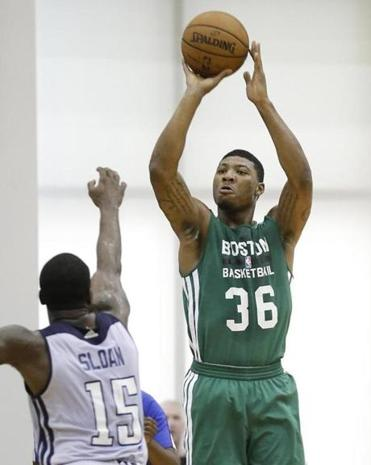 Celtics rookie guard Marcus Smart shot the ball much better in his final two summer league games.