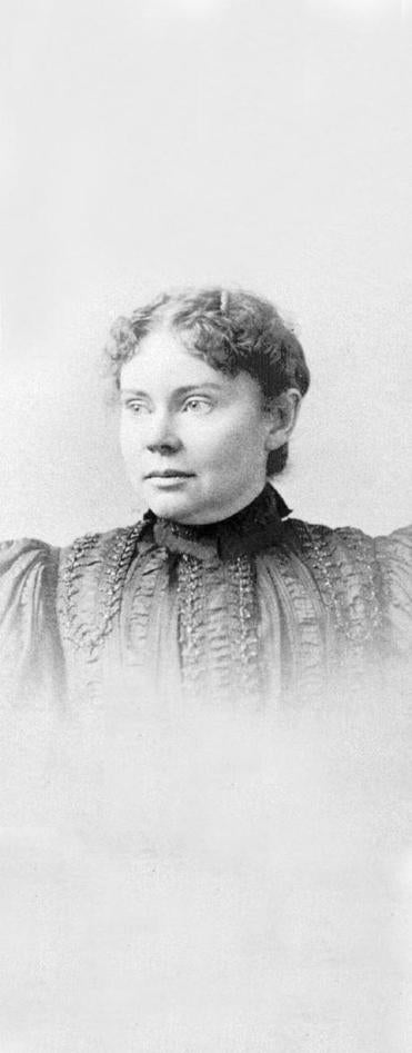 Lizzie Borden was 32 when she was charged with the ax murders of her parents. She was acquitted and lived in Fall River for the rest of her life.