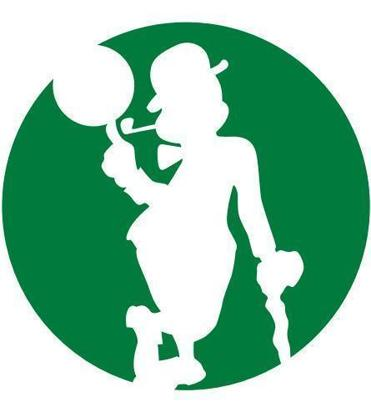 One version of the new Celtics logo the team will begin using this season.
