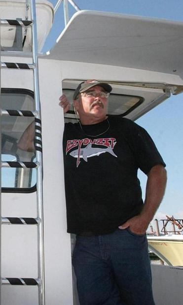 Bill Chaprales in search of tagging great white sharks off the coast of Chatham in 2010.