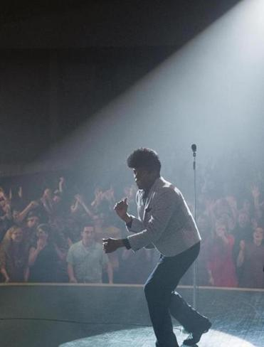 "Chadwick Boseman as James Brown in the  film ""Get on Up,"" directed by Tate Taylor."