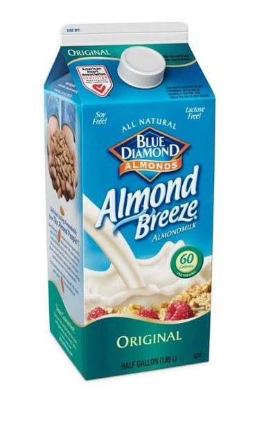 Almond milk products from Blue Diamond and Califa Farms.