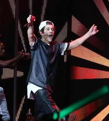 Austin Mahone headlined Sunday's four-act show at Blue Hills Bank Pavilion.