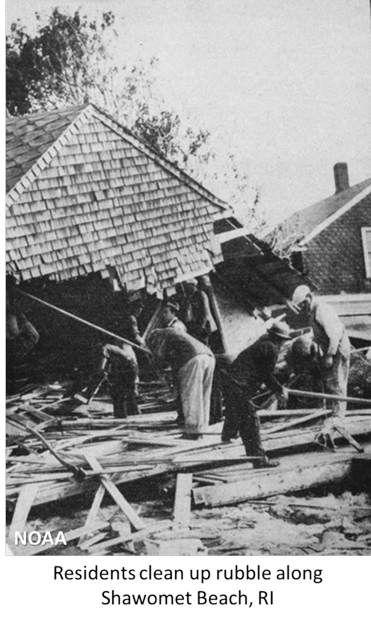 A scene from the Great Hurricane of 1938
