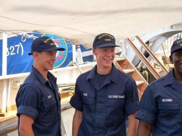 Keegan True, of Scituate, just completed his swab summer at the Coast Guard Academy.