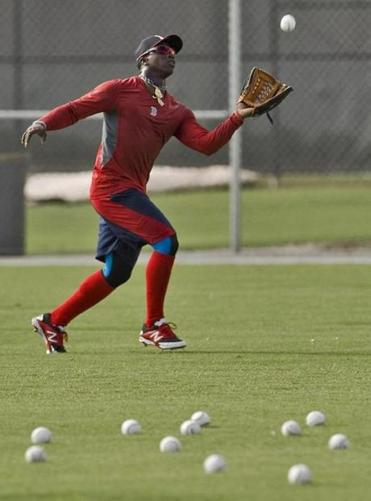 Rusney Castillo, shown in his Thursday workout in Fort Myers.