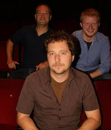 "From left: T. J. Shanoff, Mike Descoteaux, and Michael Girts of ""Blank! The Musical."""