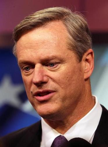 "Charlie Baker said he has a very different memory of the 2010 meeting, and recalls saying that ""we should reduce our carbon footprint."""