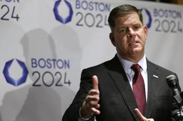 Mayor Walsh addressed an audience during an event held to generate public interest in a 2024 Olympics bid for the city of Boston in October.