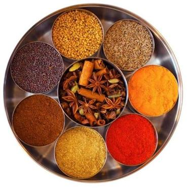 A spice box kit from  Kitchen Curry Master, which 12 spices packed in a steel tin. The kit also includes a recipe book (not pictured).