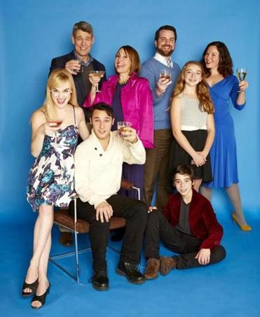 """The Big Meal"" cast members (clockwise from upper left): Peter Brown, Shelly Brown, Devon Scalisi, Arianna Reith, Becca A. Lewis, Alec Shiman, Johnny Quinones, and Ashley Risteen."