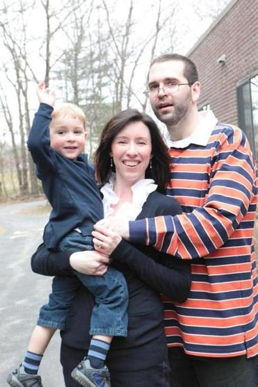 Katie and Mike Brandt celebrated Noah's third birthday and Mike's 32d birthday in March 2011.