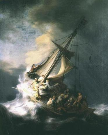 "Rembrandt's ""Storm on the Sea of Galilee"" (1633) is shown in a handout photo provided by the Isabella Stewart Gardner Museum in Boston, Massachusetts, March 18, 2013.The painting is included on a list of several works of art stolen from the museum which experts estimate at $300 million in a brazen robbery on March 19, 1990. The FBI plans to reveal new information about one of the city's longest-running crime mysteries. REUTERS/Gardner Museum/Handout (UNITED STATES - Tags: CRIME LAW ENTERTAINMENT SOCIETY) NO SALES. NO ARCHIVES. FOR EDITORIAL USE ONLY. NOT FOR SALE FOR MARKETING OR ADVERTISING CAMPAIGNS. THIS IMAGE HAS BEEN SUPPLIED BY A THIRD PARTY. IT IS DISTRIBUTED, EXACTLY AS RECEIVED BY REUTERS, AS A SERVICE TO CLIENTS"
