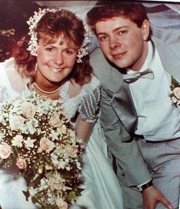 Pamela Smart and Gregory Smart on their wedding day.