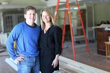 Sherborn, MA., 04/02/15, Heritage of Sherborn is one of the restaurants profiled for a story about the surge in suburban restaurants. Owners Jen and Josh Ziskin (who also own La Morra in Brookline) inside their still-under-construction restaurant and wine/provisions shop. Suzanne Kreiter/Globe staff