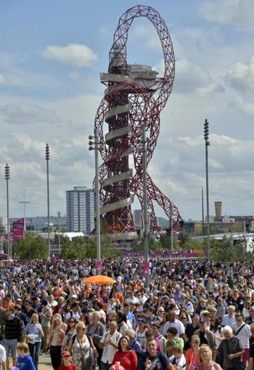 The 376-foot Orbit observation tower is a permanent park exhibit and London's largest piece of public art.
