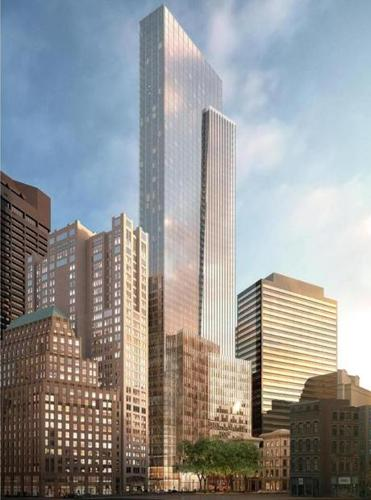 Rendering of the Millennium Partners' proposed tower for Winthrop Square. (Millennium Partners)