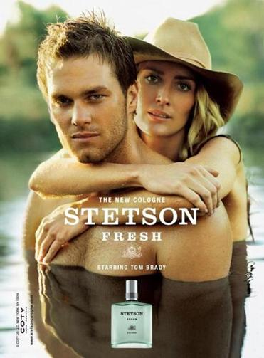 Tom Brady in a Stetson cologne advertisement.