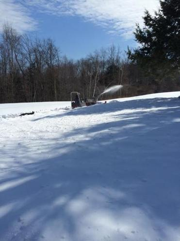 The ninth hole at The Ledges in South Hadley looked more like a ski slope than a golf course during the winter.
