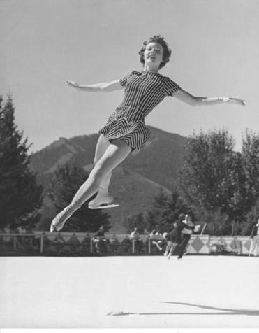 Albright practiced in 1955 in Sun Valley, Idaho.
