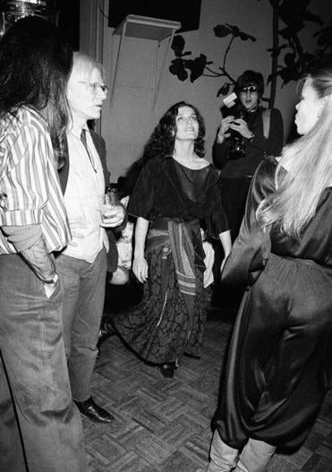 Andy Warhol and Margaret Trudeau at Studio 54 in 1978.