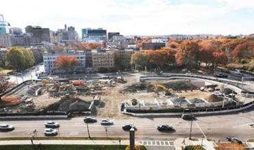 Excavation was under way earlier this month in the Fenway.