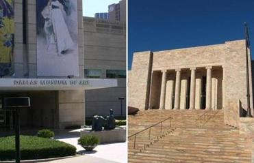 The Dallas Museum of Art (left) and the Joslyn Art Musem in Omaha.