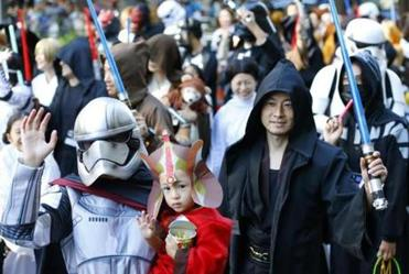 "A parade near Tokyo proves ""Star Wars"" fans come in a wide range of ages."