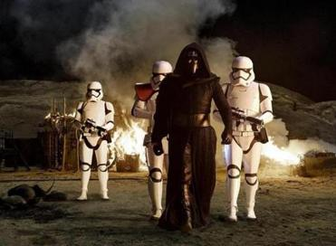 "Adam Driver as Kylo Ren in ""Star Wars: The Force Awakens."""