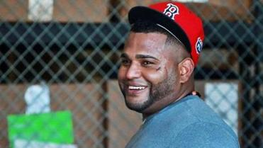 Pablo Sandoval was all smiles after batting practice.