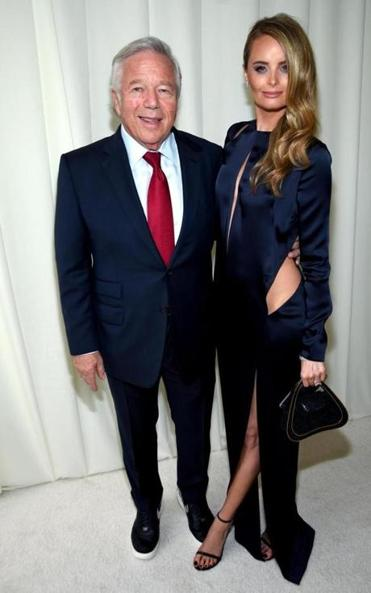 Robert Kraft and Ricki Lander at annual Elton John AIDS Foundation's Oscar Viewing Party at the City of West Hollywood Park.