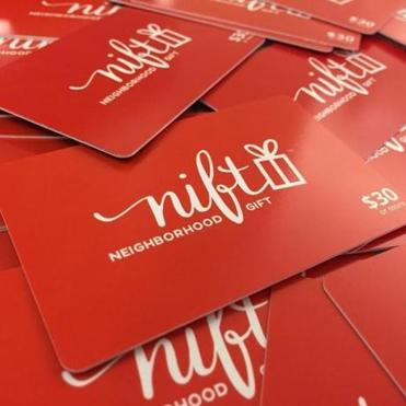 Nift gift cards are shown.