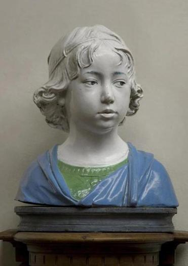 """Bust of a Young Boy"" by Andrea della Robbia."