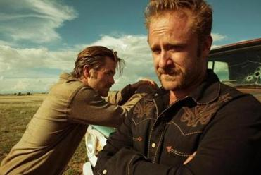 "From left: Chris Pine and Ben Foster in ""Hell or High Water."""