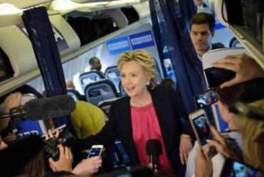 Hillary Clinton slams Donald Trump over microphone complaints