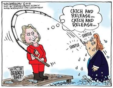 Hillary's debate bait