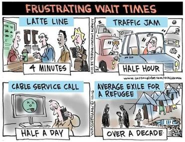 Editorial cartoon: Frustrating wait times
