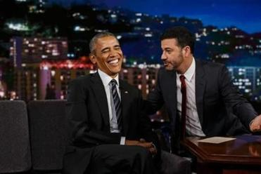 President Obama reads mean tweets on 'Jimmy Kimmel Live'