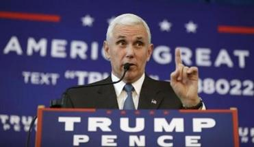 No one injured as plane carrying Pence slides off runway