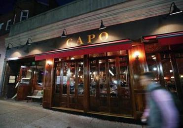"South Boston, MA- 11-17-16: Pictured is the exterior of ""Capo"" on West Broadway in South Boston are. (Jim Davis/Globe Staff) reporter: nanos topic: 21Restaurantcluster"