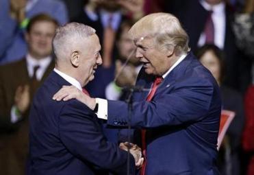 Trump officially announces Mattis as his Pentagon pick