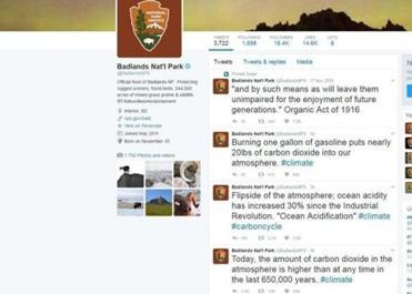 South Dakota national park tweets facts about climate change amid EPA blackout