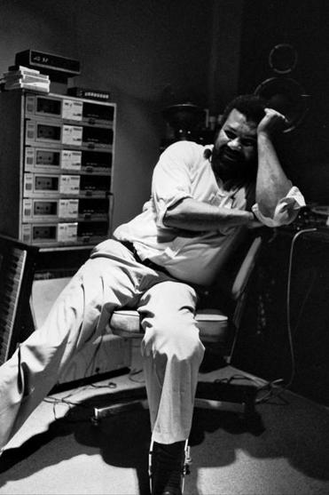 "Henry Hampton recording ""Eyes on the Prize'' vocals in 1986."