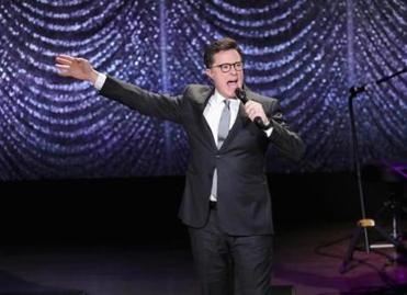 Colbert apologizes to ISIS for being unseated by Trump as 'the enemy of the American people'