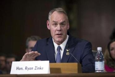 Senate confirms Zinke as Interior secretary